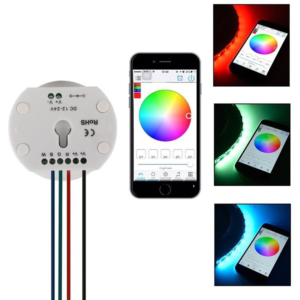 Dc12 24v Bluetooth Rgb Rgbw Led Controller For 5050 Rgbw