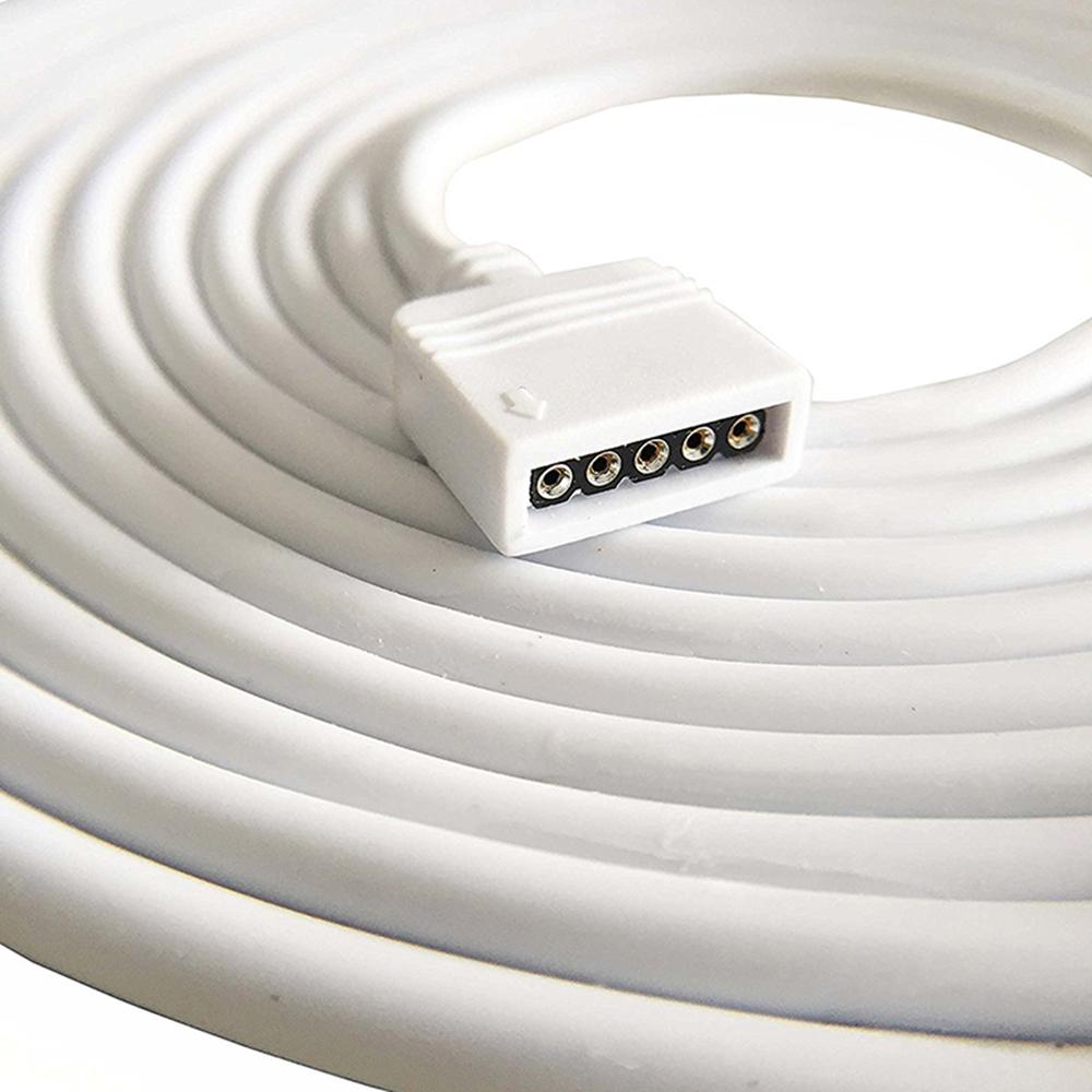 Verbinder RGBW Led Strip 5PIN 10mm Clip auf Kabel Connector RGB+W Zubehör Stripe