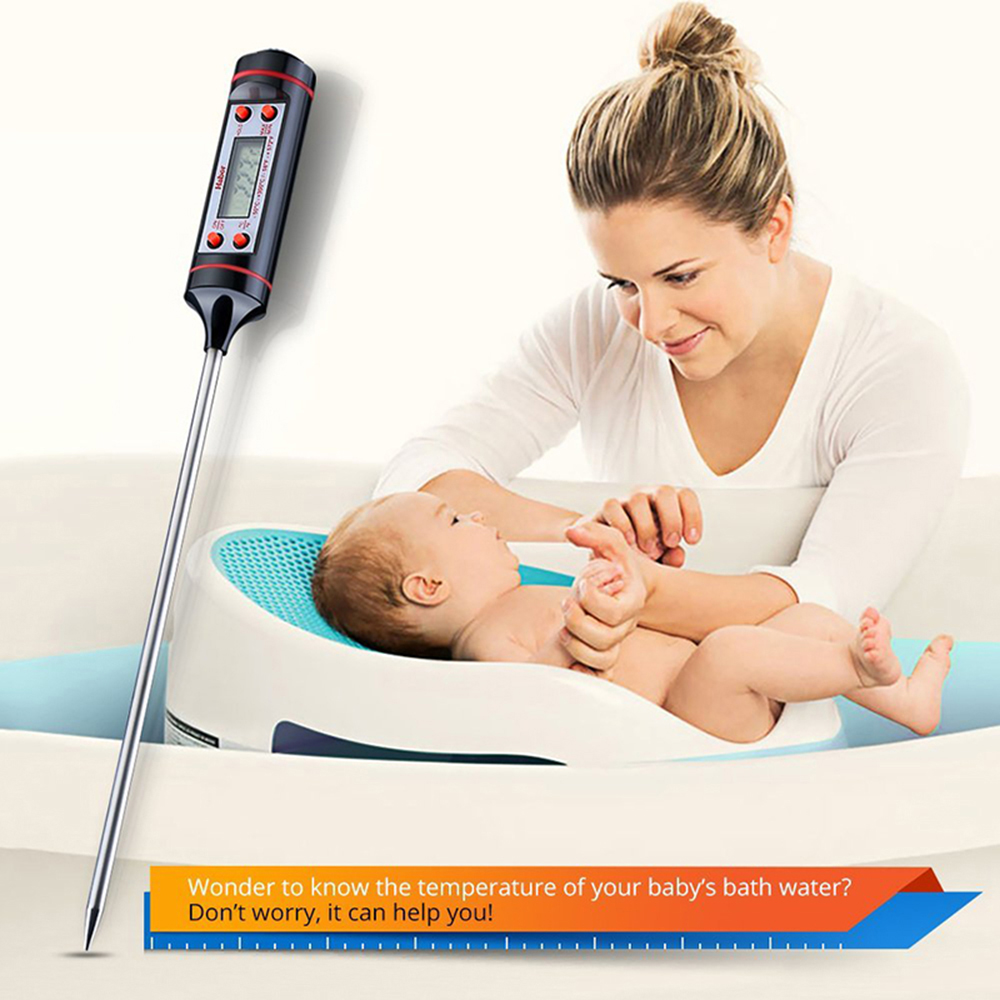 1* Kitchen Digital Thermometer For Meat Water Milk Tools Cooking Probe BBQ C1Z2
