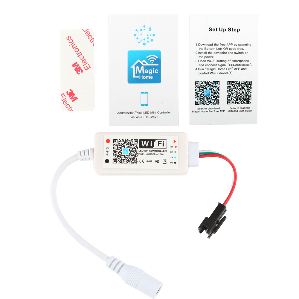 Details about DC 12-24V WiFi LED Dream Magic Color Wireless Remote  Controller for Smart Home