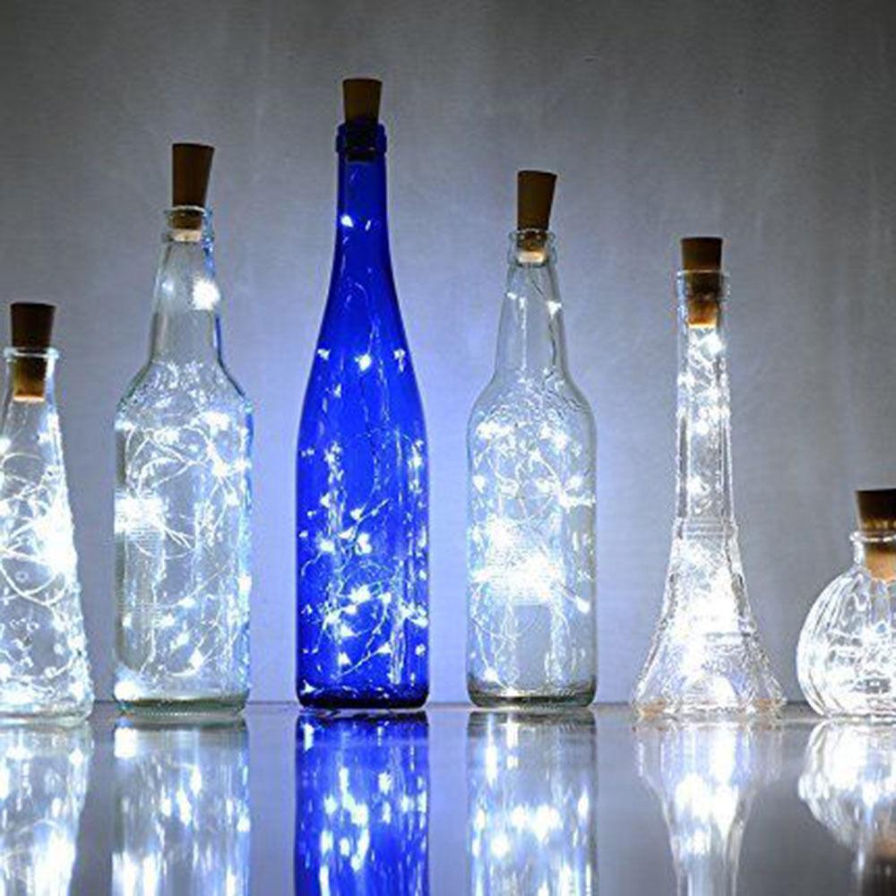 6pcs Wine Bottle Cork Lights Copper LED Light Strips Rope Kit DIY for Xmas Decor