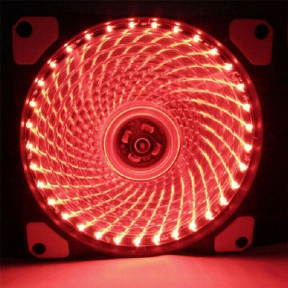 12V 120x120mm Neon Clear PC Computer Case Cooling Fan Mod With LED Lights Deco