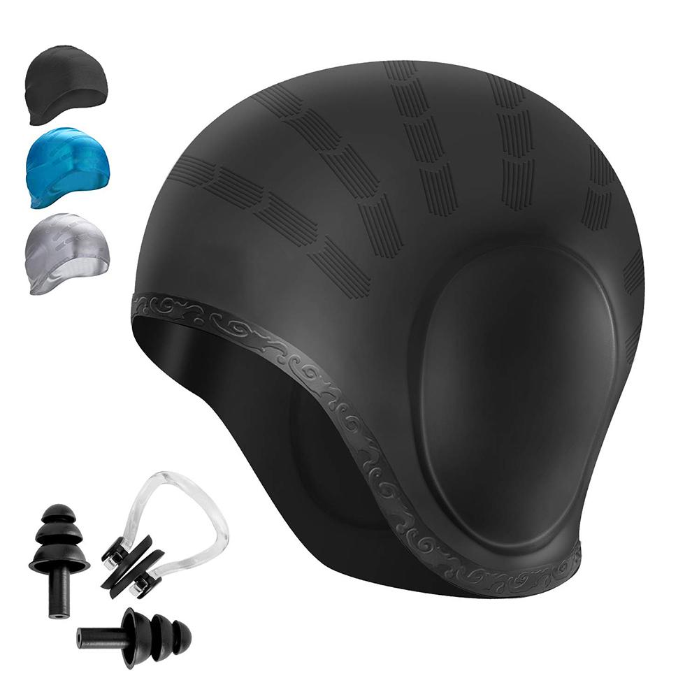Equipment Kit Adult Swim Cap Silicone Outdoor Sport Swimming Pool Hat Accessory